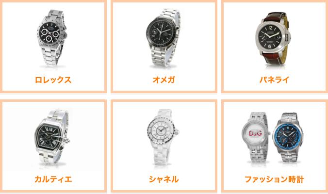 腕時計取扱商品例